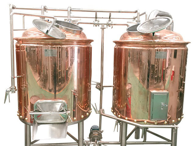 1000l Red Copper Beer Brewing Equipment Forpub Jinan